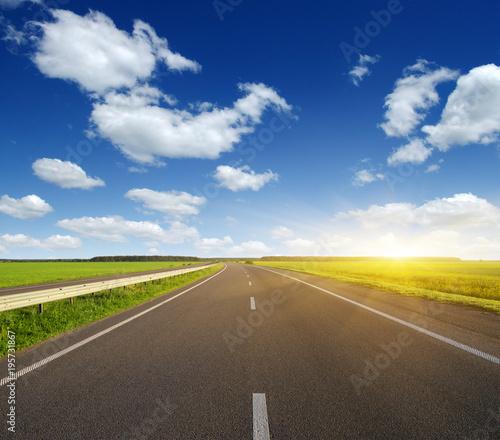 Foto op Canvas Natuur Asphalt car road