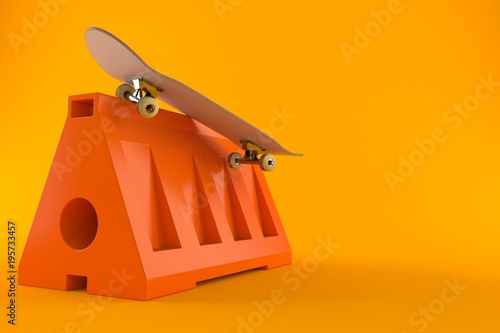 Fotobehang Skateboard Skateboard trick