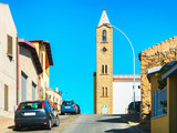 Road view in city of Carbonia Sardinia