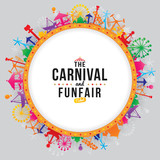 Vector illustration of the carnival funfair design. - 195740859