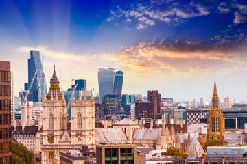 London skyline, old and new