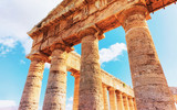 Fragment of Doric temple at Segesta in Sicily - 195746045