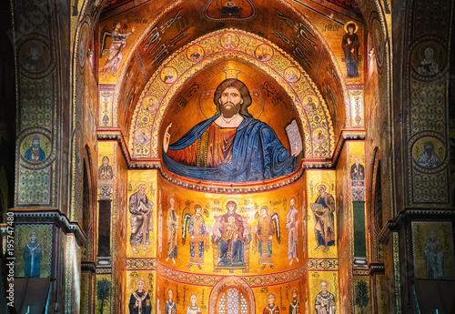 Plexiglas Palermo Interior of Monreale Cathedral Sicily