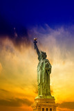 Statue of Liberty with beautiful sky. - 195751481