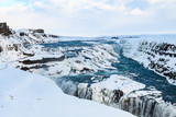 gullfoss waterfall, one of the golden circle landmarks in iceland