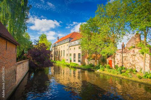 Deurstickers Brugge Sunny cityscape of Brugge