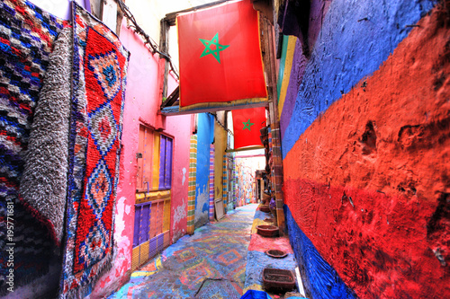 In the medina of Fes in Morocco - 195771681