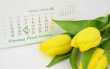 Fototapeta Tulips - Pierwszy Dzień Kalendarzowej Wiosny. 21 marca. © shake_pl