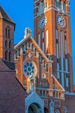 Votive church in Szeged, Hungary.Detail - 195780035