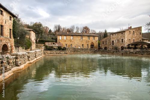 Therme in Bagno Vignoni, Toskana, Italien