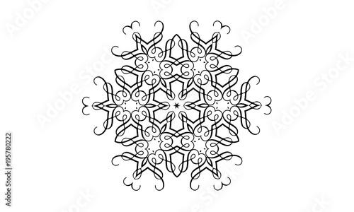 Coloring Book Ornament Mandala Floral Symbol