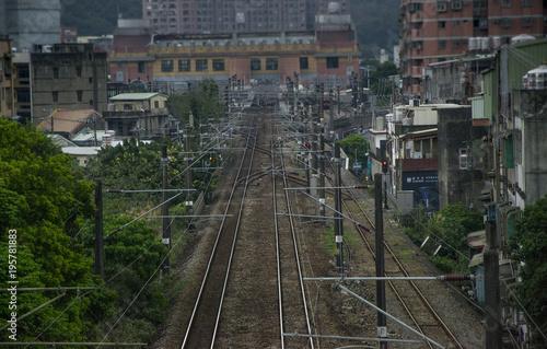 Fotobehang Spoorlijn railways