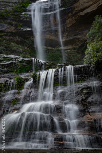 waterfall at blue mountain national park - 195782232
