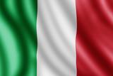 Italy flag, Realistic illustration