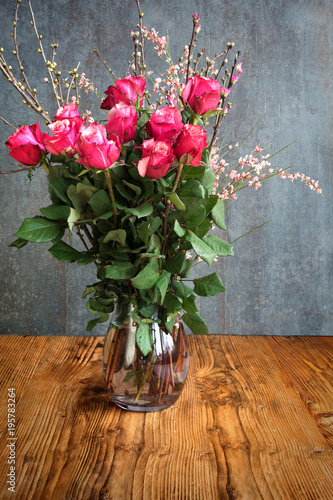 Beautiful bouquet of roses for congratulations