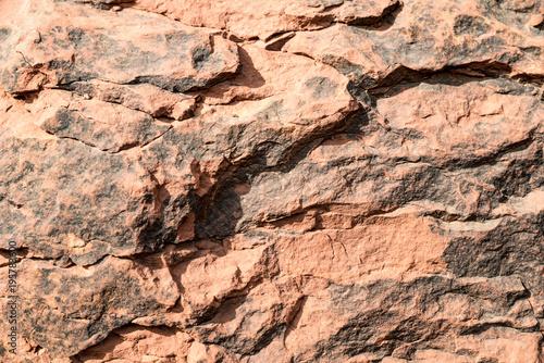 Fotobehang Stenen red and black rock
