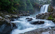 waterfall in new zealand - 195784086