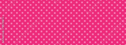 Fototapeta Pink Polka Dot Background