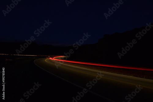Aluminium Nacht snelweg Altas Cumbres