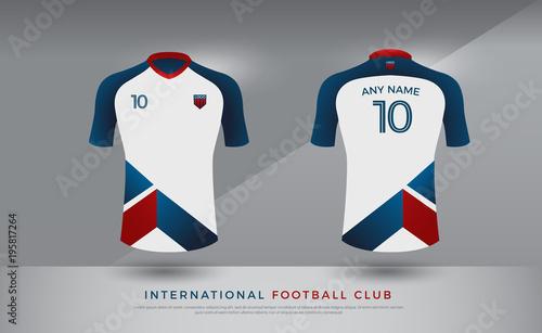 b339bfc03 soccer t-shirt design uniform set of soccer kit. football jersey template  for football