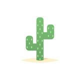 Desert cactus icon vector - 195828423