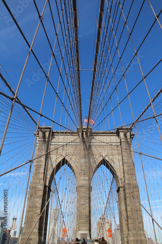 Fotobehang Brooklyn Bridge pont de brooklyn