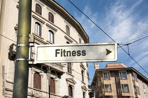 Schild 242 - Fitness