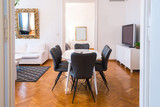 Dining area in modern luxury apartment - 195836893