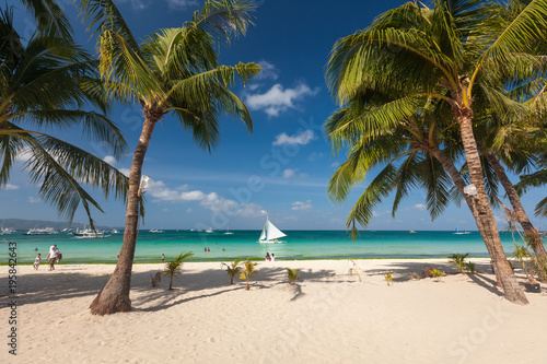 Staande foto Tropical strand Tropical landscape of Boracay island, Philippines