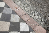 Fragment of paving the square in Bergamo