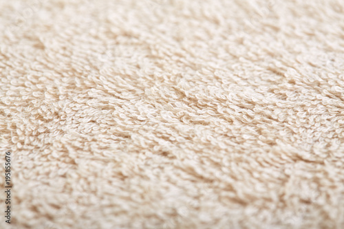 Fotobehang Stof fabric and texture concept - close up of a towel terry cloth or terry textile background