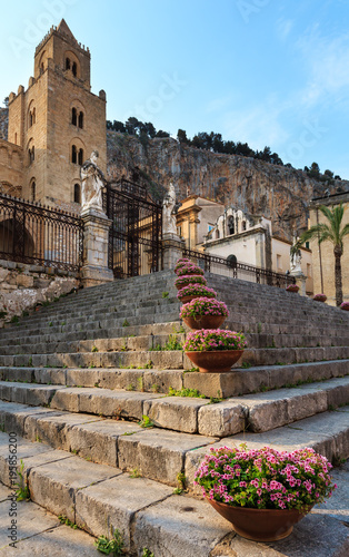 Fotobehang Palermo Cefalu town view Sicily, Italy