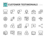 Outline Icons About Customer Testimonials Wall Sticker