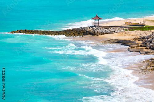 Pandawa plaża przy słonecznym dniem. Bali, Indonezja