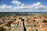 Aerial view of Orvieto rooftops from Bell Tower
