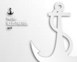 Flat anchor icon