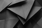 Composition with geometric shapes, abstract background - 195884283