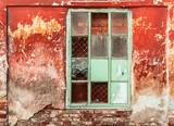brick vintage windows - 195884476