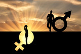 Concept of gender inequality - 195885262