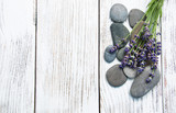 Lavender and massage stones - 195887636