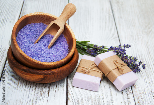 Lavender with soap - 195887632