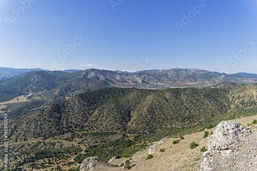 Plexiglas Herfst Crimean mountains.