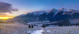 wonderful, multicolored dawn in the mountains.Tatra mountain,Slovakia.