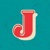 Vintage bold vector design alphabet