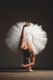 Young beautiful ballerina is posing in studio - 195911069