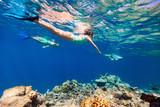 Little girl snorkeling - 195914226