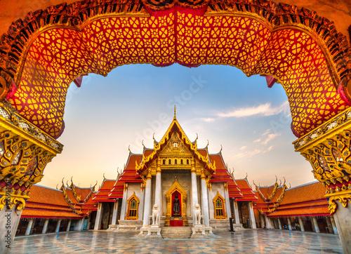 Aluminium Thailand Wat Benchamabophit Dusit wanaram. Bangkok, Thailandia.