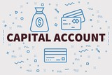 Conceptual business illustration with the words capital account - 195916648