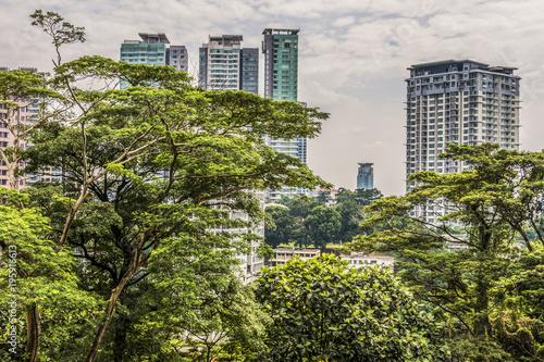 Fotobehang Kuala Lumpur View of buildings in the city of Kuala Lumpur Malaysia