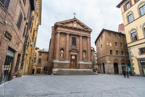 Siena (Italy) - The wonderful historic center of the famous city in Tuscany region, central italy, declared by UNESCO a World Heritage Site. © ValerioMei